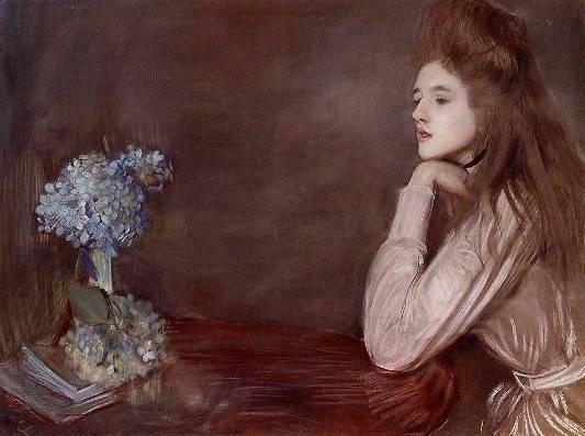 la lionne aux hortensias bleus